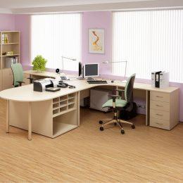 Kancelářská sestava nábytku SKA 01 bříza