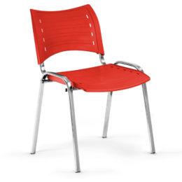 Konferenční židle Smart PC červená