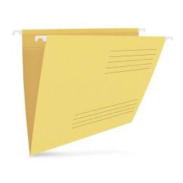 Závěsné desky pro kartotéku A4 barevné 25 ks žluté
