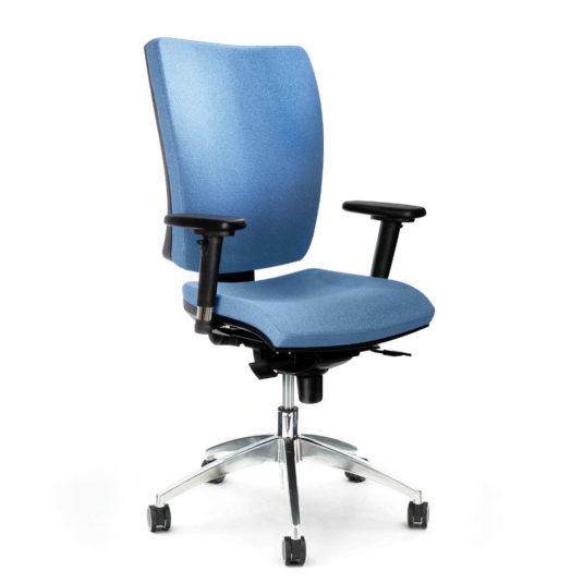 Kancelářská židle ANTARES 1580 SYN Gala ALU s područkami AR08C nosnost 130 kg