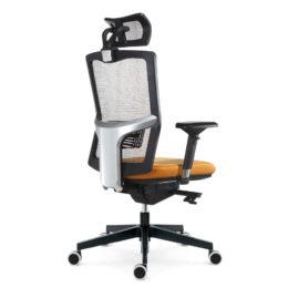 Kancelářská židle EMAGRA X5PF s područkami 3B nosnost 130 kg bok 1