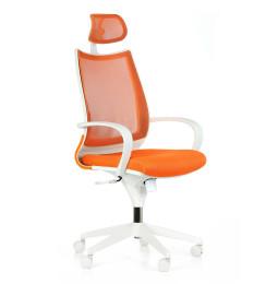 Kancelářská židle FUTURA White NET s područkami nosnost 135 kg