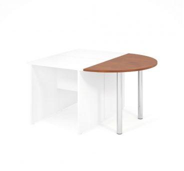 Jednací prvek LENZA včetně nohou pro stůl široký 2x60 cm