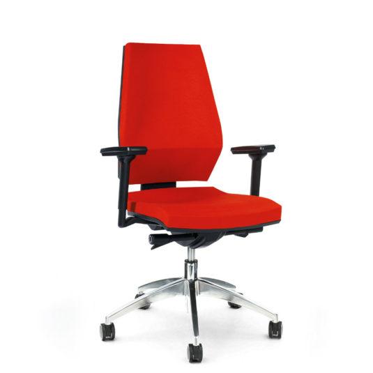 Kancelářská židle ANTARES 1870 SYN Motion ALU s područkami AR40 nosnost 130 kg