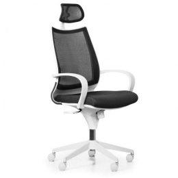 Kancelářská židle FUTURA White NET s područkami nosnost 135 kg tmavě šedá