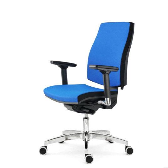 Kancelářské křeslo ALBA Job XXL nosnost 150 kg modré