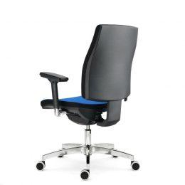 Kancelářské křeslo ALBA Job XXL nosnost 150 kg modré zadek