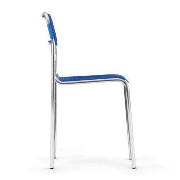 Plastová jídelní židle ASKONA chrom bok