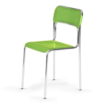Plastová jídelní židle ASKONA chrom světle zelená