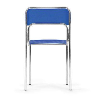 Plastová jídelní židle ASKONA chrom zadek