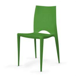 Plastová jídelní židle LUCIE zelená