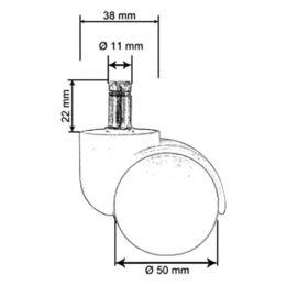 Plastová-kolečka-50-mm-čep-11-mm-pro-koberce-rozměry