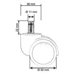 Pogumovaná-kolečka-50-mm-čep-11-mm-pro-všechny-podlahy-rozměry