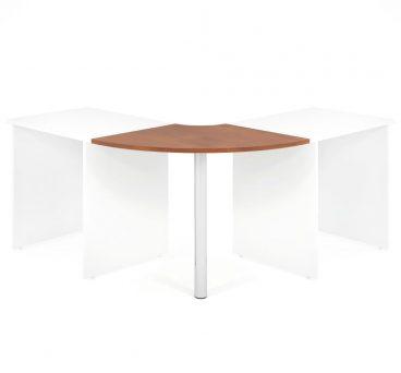 Propojovací prvek LENZA Round včetně nohy pro stoly široké 60 cm