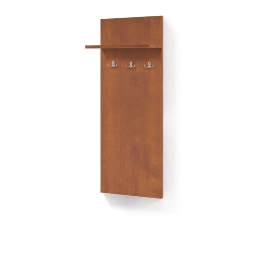 Věšáková stěna OFFICE 40×150 cm s poličkou a 3 věšáky